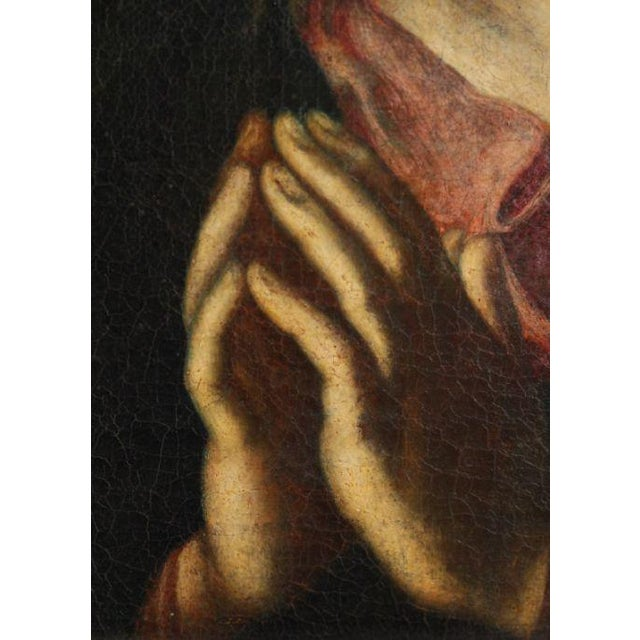 A very beautiful Grand Tour oil painting of the Madonna done in the Renaissance style. The drawing is very nice and...