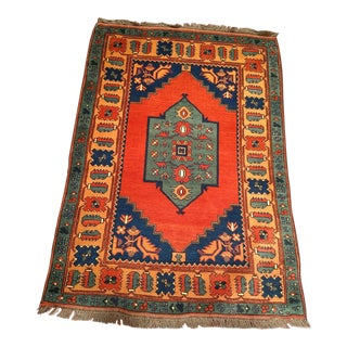 Vintage Moroccan Village Rug For Sale