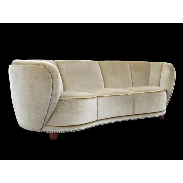 1930's Scandinavian Deco Mohair Sofa For Sale - Image 13 of 13