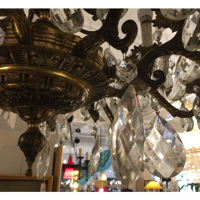 Vintage Twenty Light Crystal Chandelier - Image 10 of 11