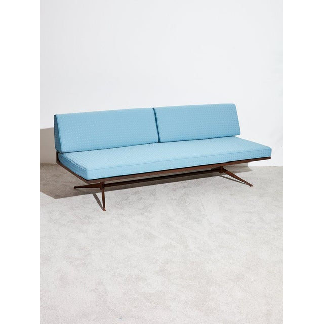 Blue Baumritter Upholstered Daybed Sofa For Sale - Image 8 of 8
