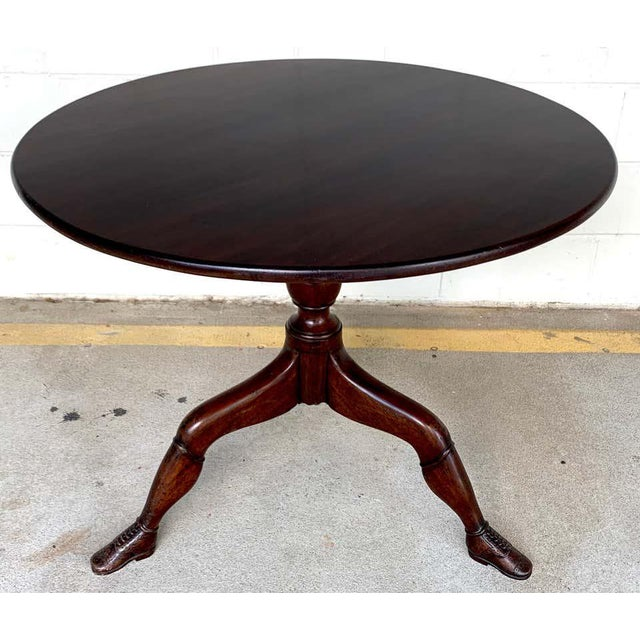 19th Century English Lady Leg Birdcage Tilt Top Table For Sale - Image 11 of 12
