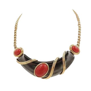 1980s Monet Modernist Cabochon Necklace For Sale