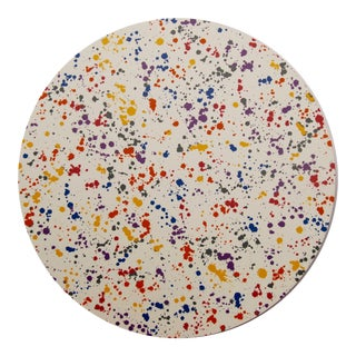 Splatter Placemat in Yellow Multi For Sale