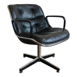 1970s Mid-Century Modern Charles Pollock for Knoll International Executive Armchair