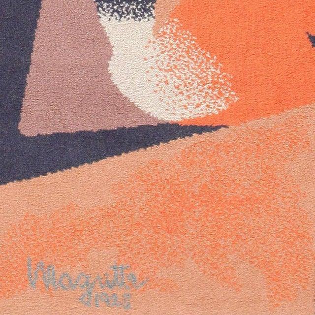Mid-Century Modern Vintage Ege Scandinavian Carpet After René Magritte - 4′7″ × 6′7″ For Sale - Image 3 of 5