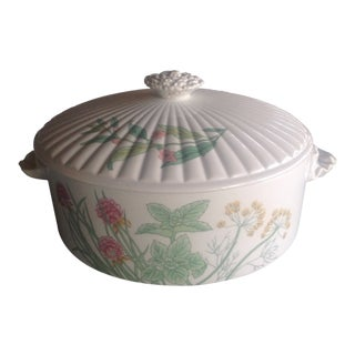 """Vintage English Traditional Shafford """"Herbs & Spices"""" Oven to Table Casserole Dish For Sale"""