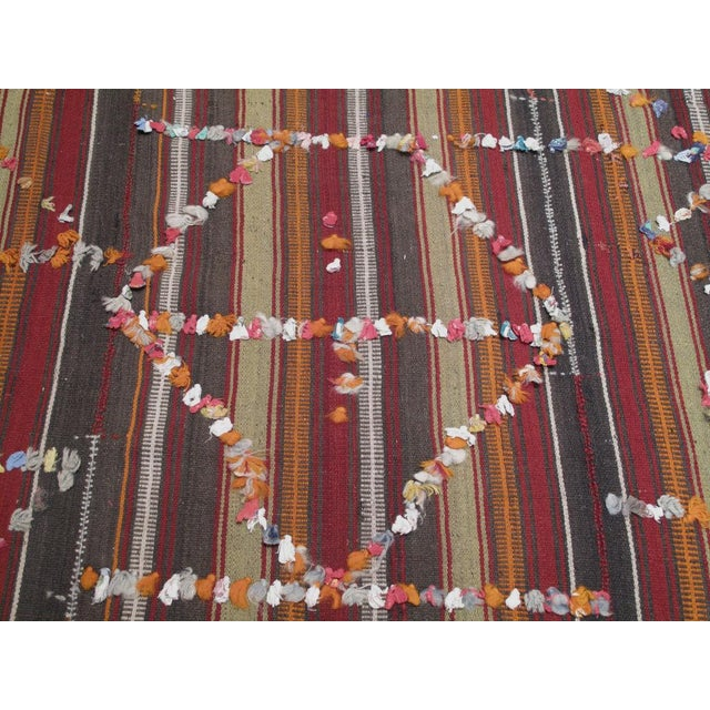 Red Pardah (curtain) with ribbons For Sale - Image 8 of 8