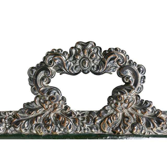 Metal Victorian Papier Mache and Silver Plated Tray Table For Sale - Image 7 of 13