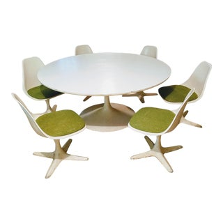 Burke Saarinen Tulip Table & 6 Chairs For Sale