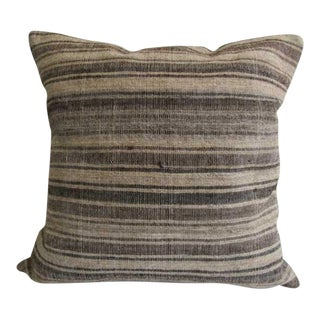Striped Natural Kilim Pillow Cover For Sale