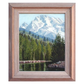 1960's Sierra Mountains Landscape Painting For Sale