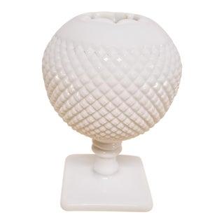 1940s Westmoreland Milk Glass Ivy Ball Vase For Sale
