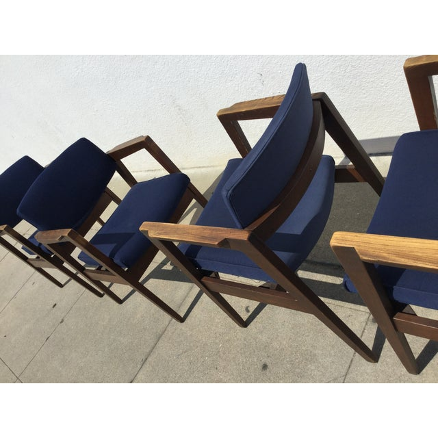 Vintage Navy Modern Chairs - Set of 4 - Image 7 of 11