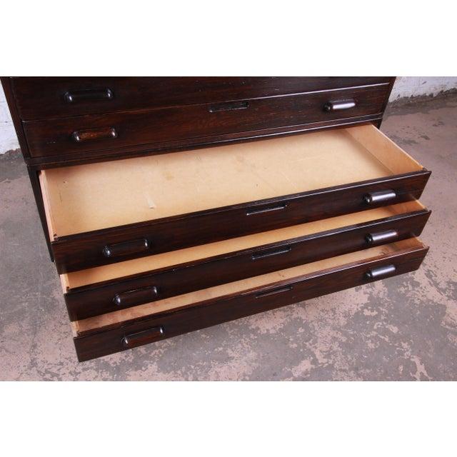 Brown Vintage Dark Oak Blueprint Flat File For Sale - Image 8 of 11