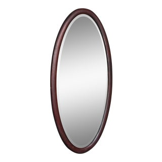 Early 20th C. American Mahogany Oval Mirror For Sale