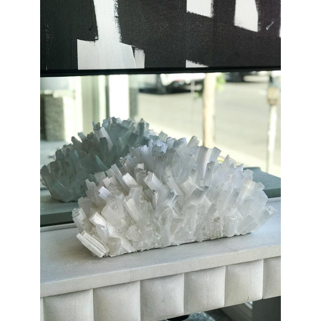 White Kathryn McCoy Selenite Crystal Sculpture For Sale - Image 8 of 8
