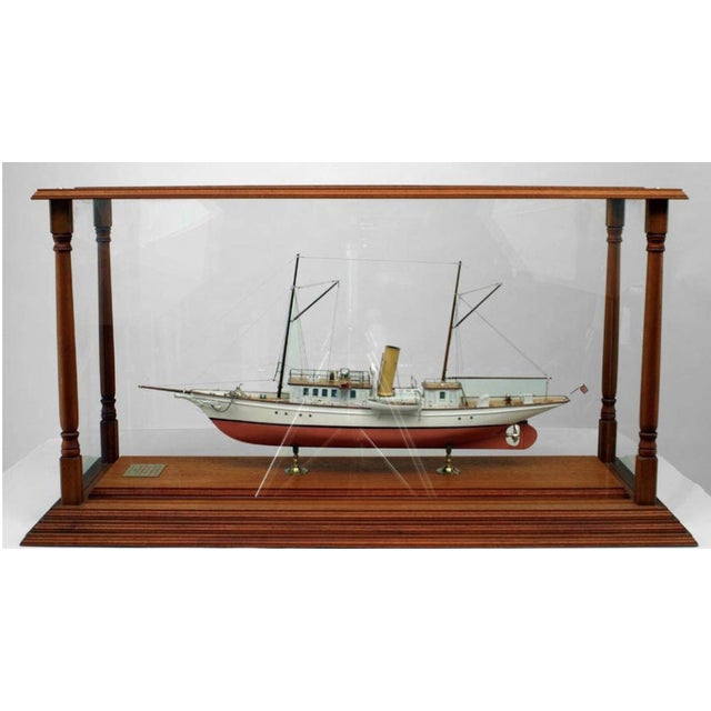 Late 19th Century 19th C. American Encased Ship Model, Lady of Torfrida, 1888 For Sale - Image 5 of 5