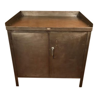 1930's Century American Industrial Steel Cabinet For Sale