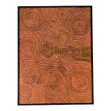 Image of Contemporary Abstract Orange Painting For Sale