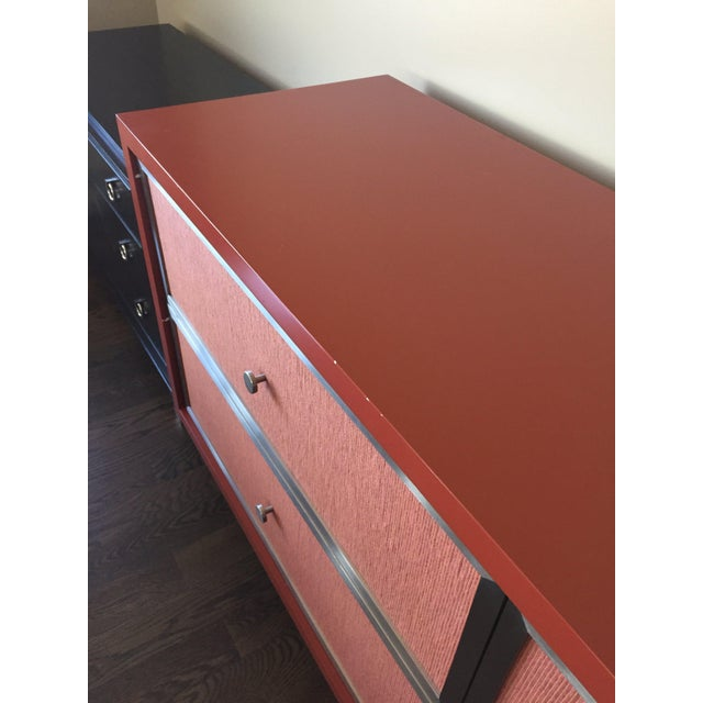 Custom Modern Red Credenza For Sale In Chicago - Image 6 of 7