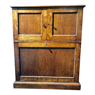 20th Century French Country Oak Cocktail / Bar Cabinet For Sale