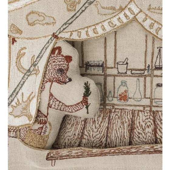 Bear Apothecary Tent Pocket Pillow For Sale - Image 4 of 6