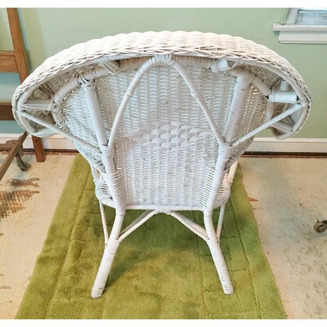 Vintage Wicker Fan Back Armchair | Chairish