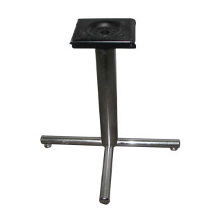 Simple Chrome Metal Table Base For Sale