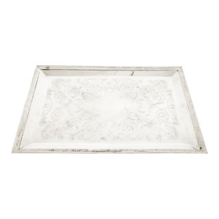English Sheffield Plated Barware / Tableware Tray For Sale