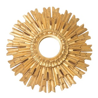 Contemporary Sunburst Wall Mirror For Sale