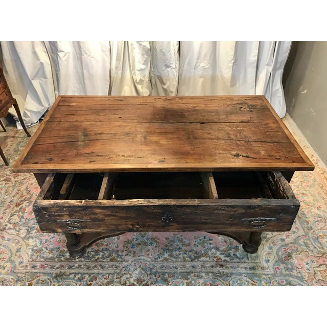 French Walnut Work Table With Drawers For Sale - Image 4 of 8