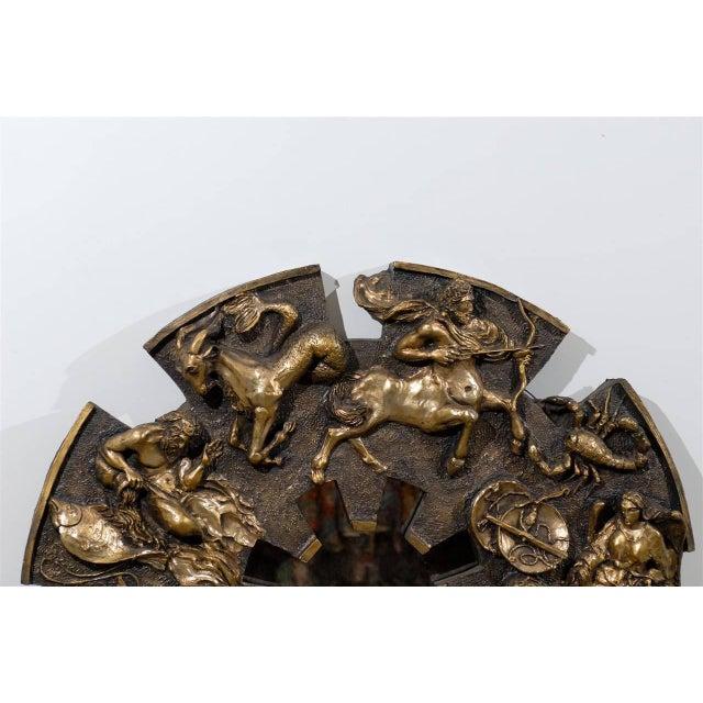Finesse Originals Dramatic Brutalist Zodiac Mirror For Sale - Image 4 of 8