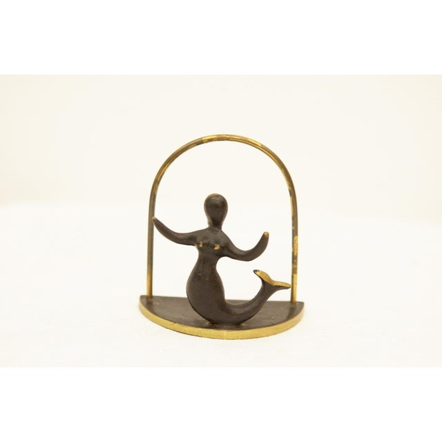 Vintage brass napkin holder by Hertha Baller For Sale - Image 4 of 6