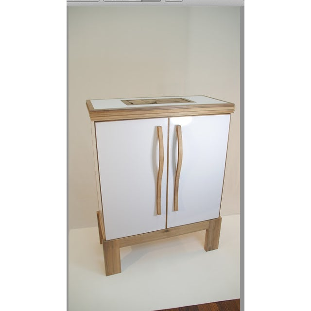 Contemporary Mosaic Top Sculpted Handles Sideboard For Sale In New York - Image 6 of 6