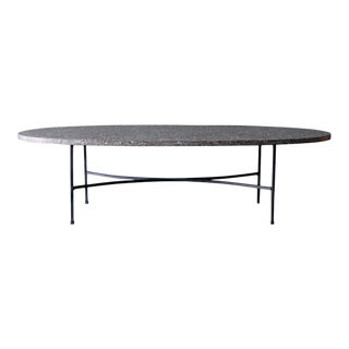 Iron and Terrazzo Coffee Table, Ca. 1965 For Sale