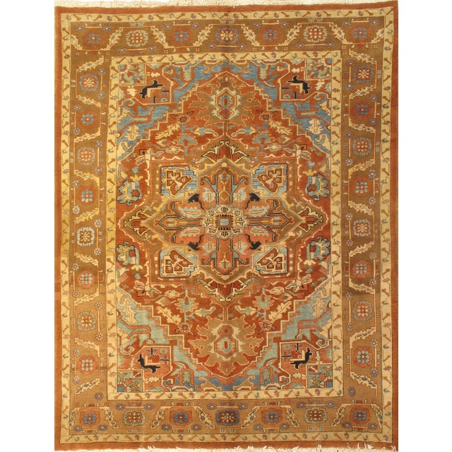 "Islamic Persian Heriz Hand-Knotted Rug-8'3""x10'9"" For Sale - Image 3 of 3"