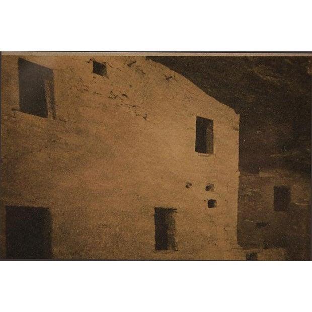 Framed Sepia Toned Vintage Signed Photograph For Sale - Image 5 of 6
