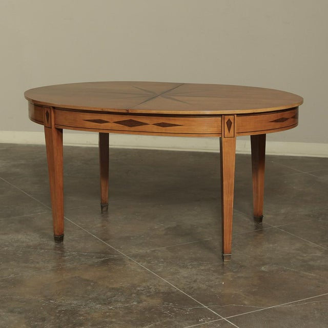 Mid 20th Century Mid-Century French Directoire Style Inlaid Table For Sale - Image 5 of 13