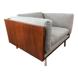 Komfort Danish Rosewood Wrapped Lowback Cube Chair