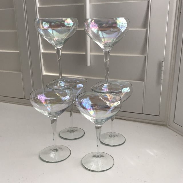 Opalescent Champagne Coupes - Set of 6 - Image 2 of 8