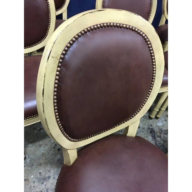 Baker Oval Back Side Chairs - Set of 10 For Sale - Image 11 of 12