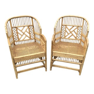 Brighton Style Pavilion Bamboo Chairs a Pair For Sale