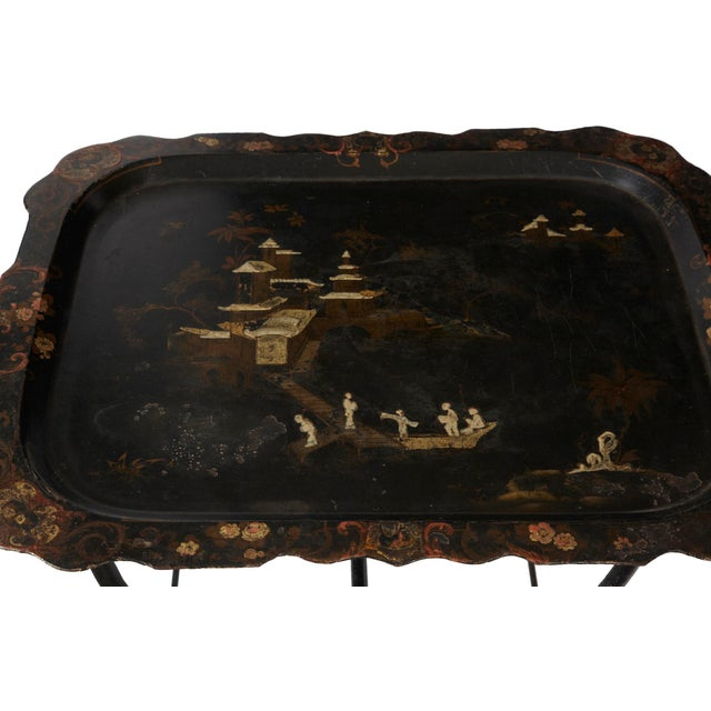 Vintage Chinoiserie Tray Table - Image 2 of 2
