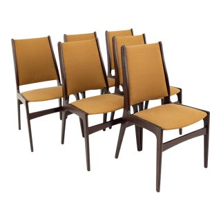 Danish Mid Century Rosewood Dining Chairs - Set of 6 For Sale