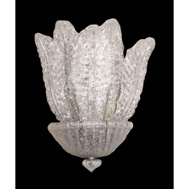 Transparent Waldorf Deco Barovier & Toso Italian Venetian Sconce For Sale - Image 8 of 8