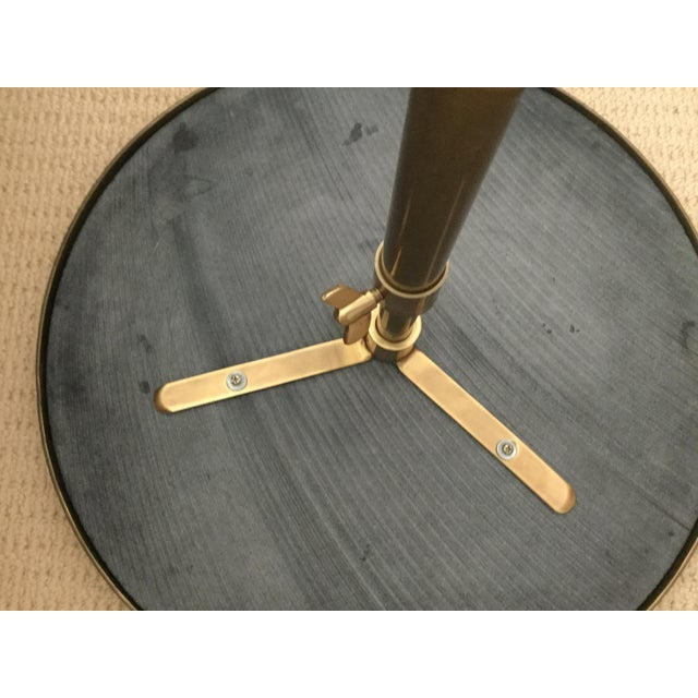 Brass & Black Marble Side Table - Image 4 of 10