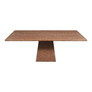 Traditional 1980s Italian Stone Dining Table For Sale