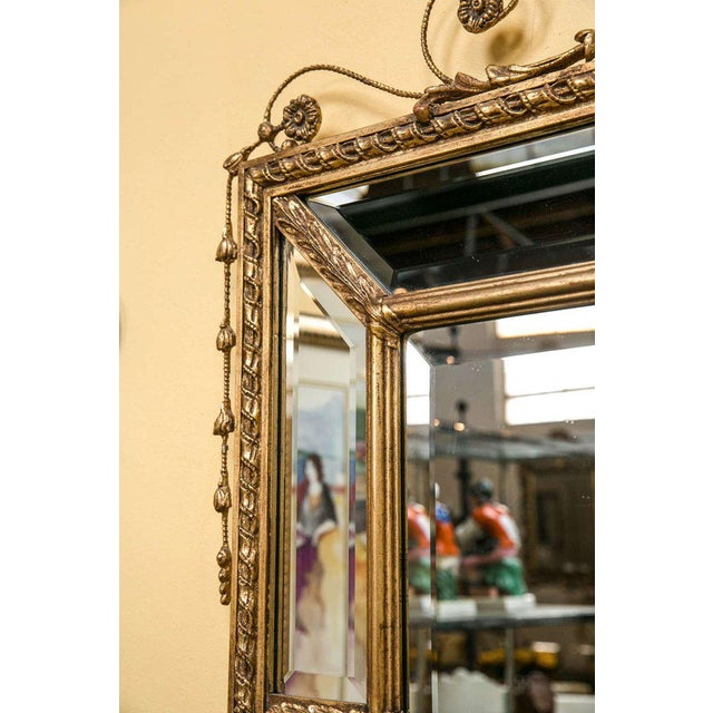 Adams Style Beveled Mirror in Finely Carved Frame For Sale - Image 9 of 11