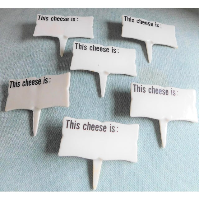 Ceramic Mid-Century Porcelain Cheese Markers - Set of Six For Sale - Image 7 of 9